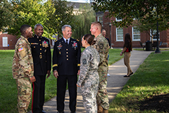 Military science and University generals pose for photo