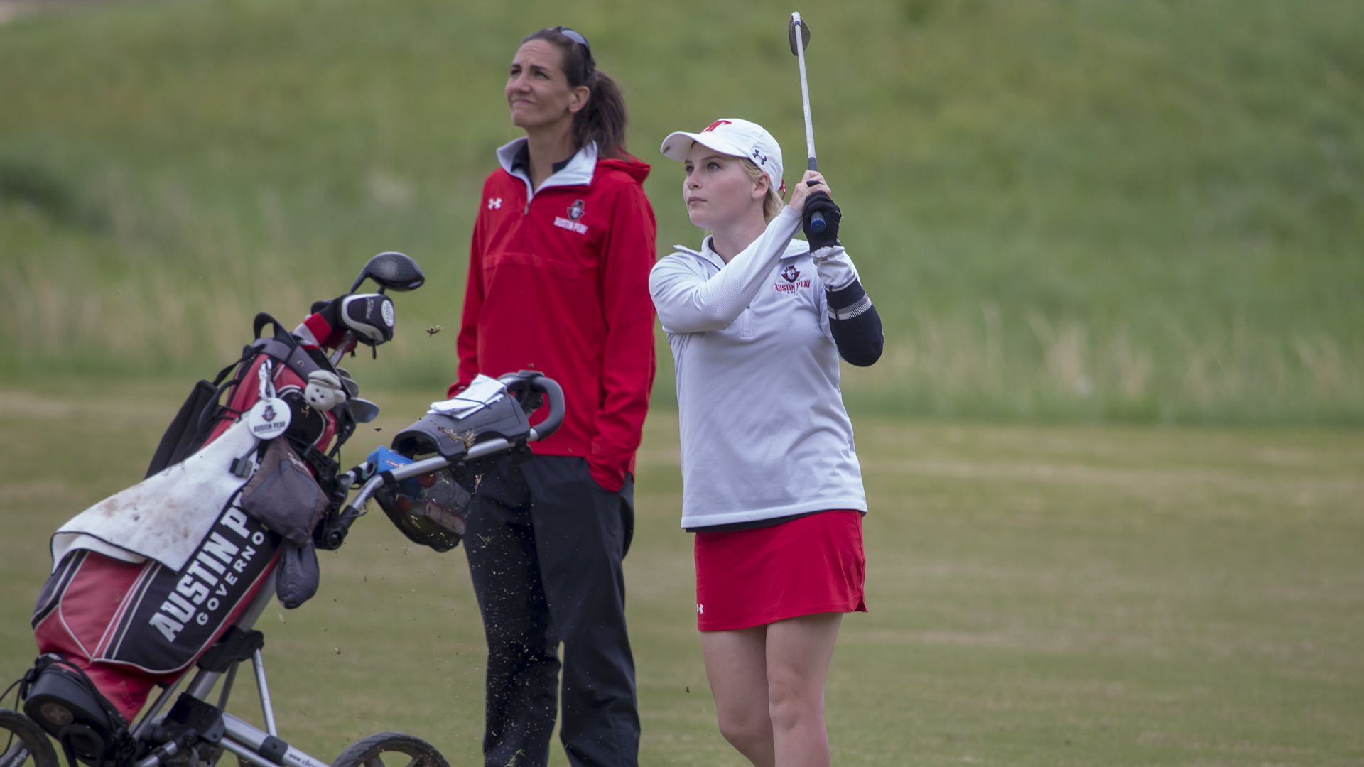 Stamps hits ball during Golf Tournament